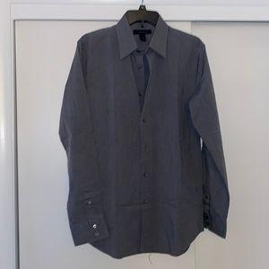 Express men's button down medium grey shirt